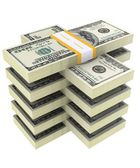 Bundle of dollars on a white background — Stock Photo