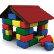 House of the children's blocks — Stock Photo