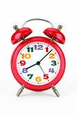 Alarm clock of red colour — Stock Photo
