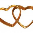 Two heart-shaped rings — Stock Photo