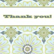 Thank You Gift Card - Stock Vector