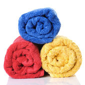 Three bath towels — Stock Photo