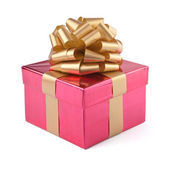 Pink gift box. Isolated — Stock Photo