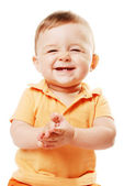 The laughing baby — Stock Photo
