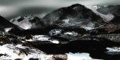 Sneeuw bergen — Stockfoto