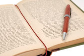 Book with pen — Stock Photo