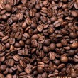 Coffee beans on a bag — Stock Photo