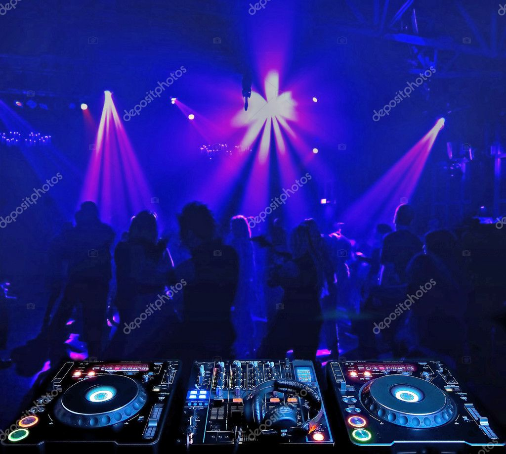 Dj mixer and in nightclub — Stock Photo #3206489