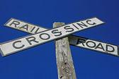 Rail Road Crossing — Stock Photo