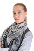 Woman with a scarf on a neck — Photo
