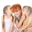 Happy Mother talking with her daughters. — Stock Photo