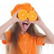 Girl in orange — Stock Photo #3277282