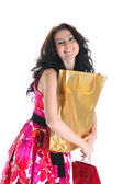 Beautiful girl with shopping bags — Стоковое фото