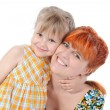 Stock Photo: Daughter hugging her mother.