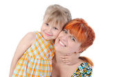 Daughter hugging her mother. — Stock Photo