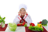 Wonderful chef in the kitchen. — Stock Photo