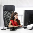 Girl looks in the monitor. — Stock Photo #3417093