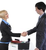 Handshake two business partners — Stock Photo