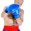 Portrait of an experienced boxer — Stock Photo #3611605