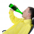 Young man drinking alcohol. — Stock Photo