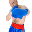 Adult fighter punches during training. — Stock Photo #3626721