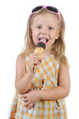 Child eating ice cream. — Stock Photo