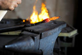 Work in the forge — Stock Photo