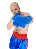 Adult fighter punches during training. — Foto Stock