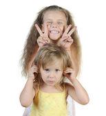 Two happy girls — Stock Photo