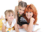 Mother with her daughters. — Stock Photo