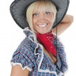 Young beauti cowgirl. — Stock Photo #3740861