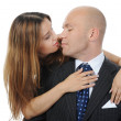 Businessman with a beautiful woman — Stock Photo