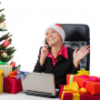 Stock Photo: Secretary of Santa Claus