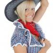 Young beauti cowgirl. — Stock Photo #3819221