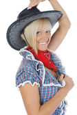 Young beauti cowgirl. — Stock Photo