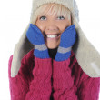 Woman in winter style — Stock Photo #3829195