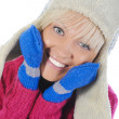 Frau im Winter-Stil — Stockfoto