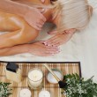Blonde for massage — Stock Photo #3875189