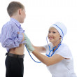 Drktor and little patient — Stock Photo #3875267