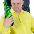 Man drinking alcohol. — Stock Photo