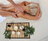 Blonde for massage — Stock Photo