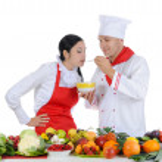 Chef at restaurant — Stock Photo