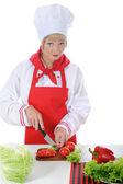 Knappe chef-kok in uniform. — Stockfoto