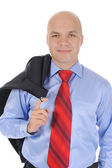 Businessman with a jacket in his hands — Stock Photo