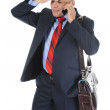 Stock Photo: Businessmtalking on phone