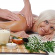 Stock Photo: Massage in the spa salon