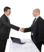 Handshake of two business partners — Stock Photo