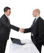 Handshake of two business partners — Stock Photo