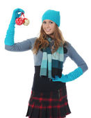 Woman in winter style — Stock Photo