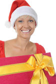Beautiful christmas woman. — Foto Stock